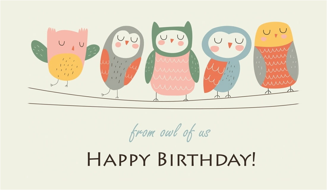 Email A Birthday Card Free Free Happy Birthday From Owl Of Us Ecard Email Free