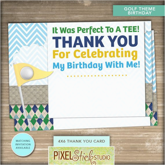 Emailable Birthday Cards 4x6 Golf Thank You Card Instant Download 1st