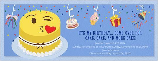Emoji Birthday Card Template 150 Free Printable Invitation Templates