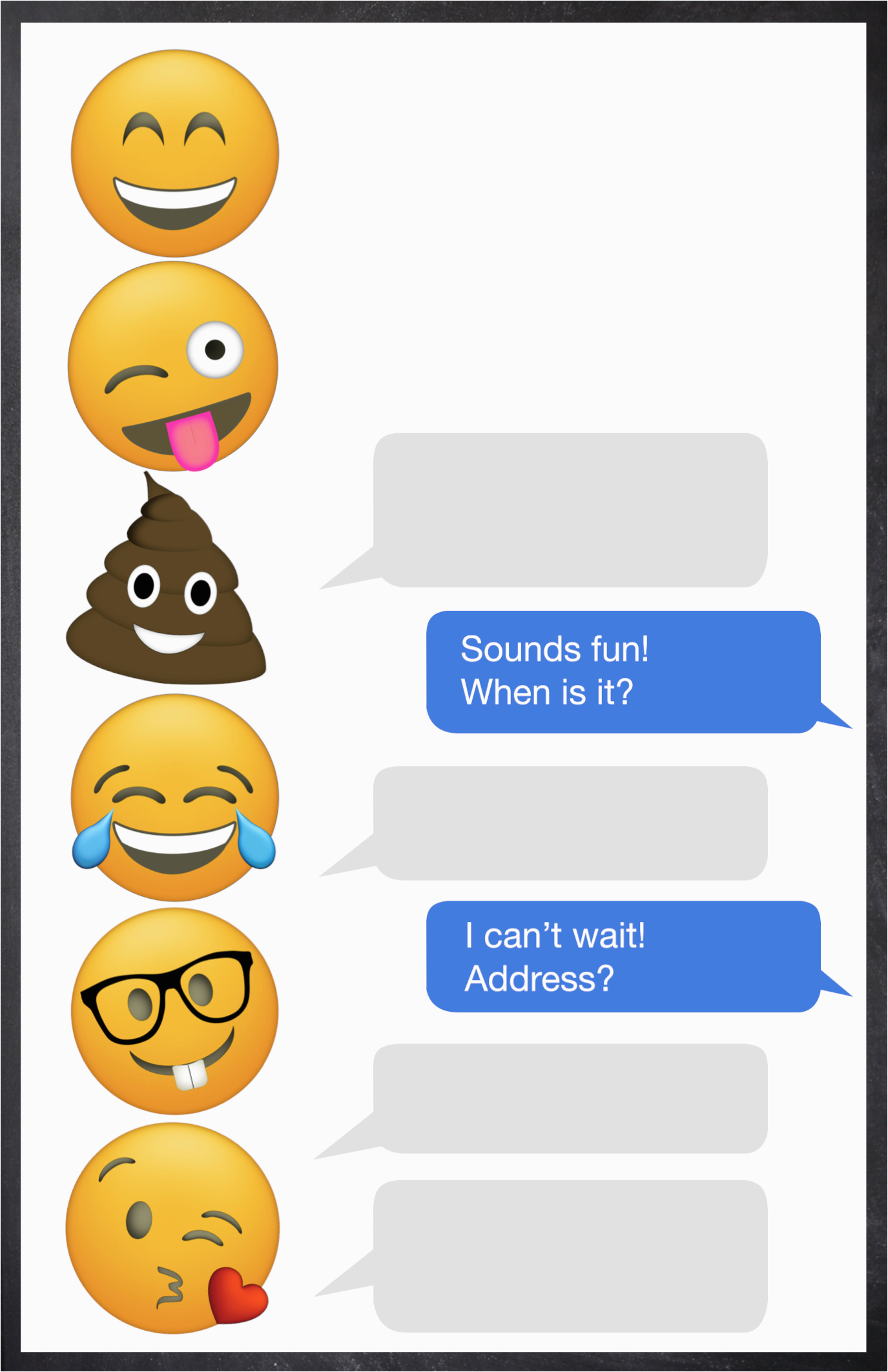 Emoji Birthday Card Template Emoji Birthday Invitations Free Printable Template Paper