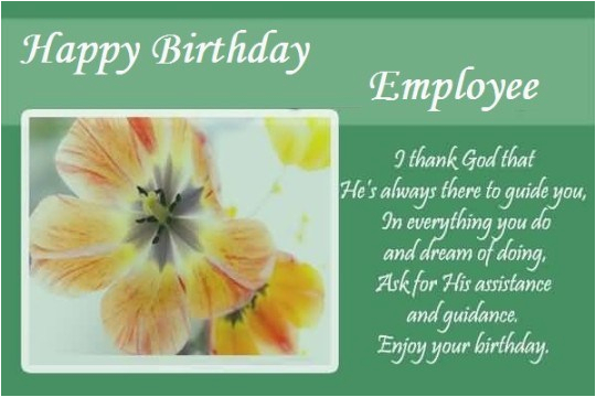 Employee Birthday Card Messages Happy Wishes For From Hr Human Resource