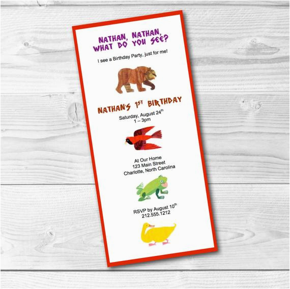 brown bear brown bear invitation eric