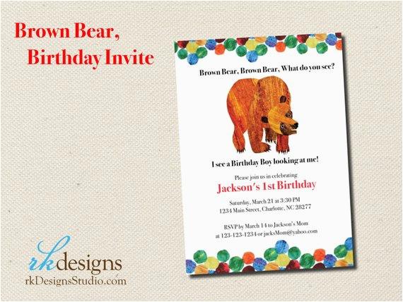 brown bear eric carle birthday