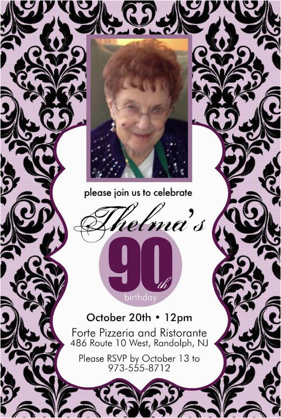 Etsy 90th Birthday Invitations Items Similar To Invitation On