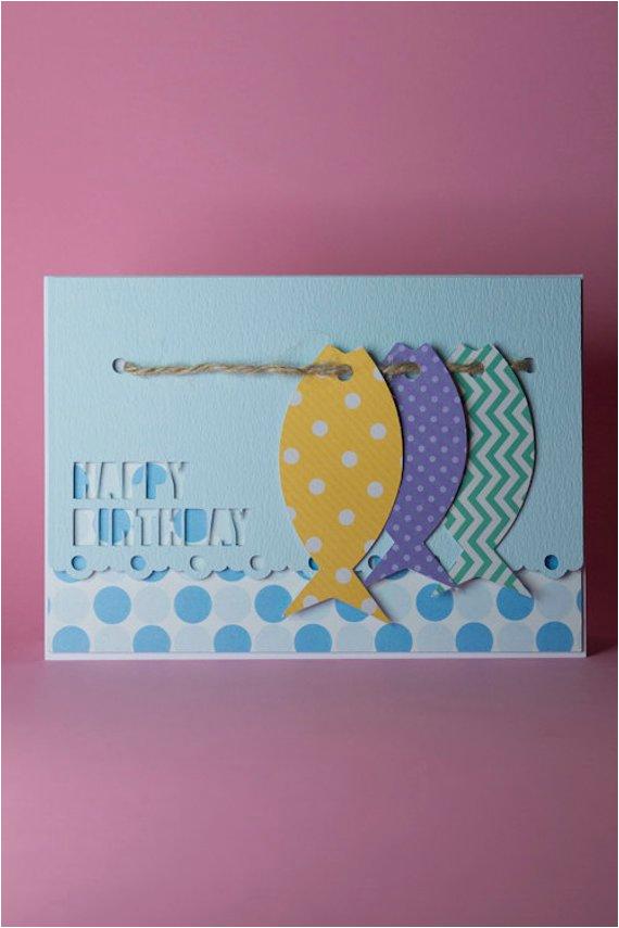 handmade fishing birthday card by tangledcraftsuk on etsy