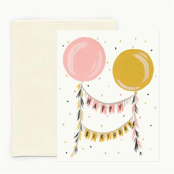 items similar to birthday balloons greeting card on etsy