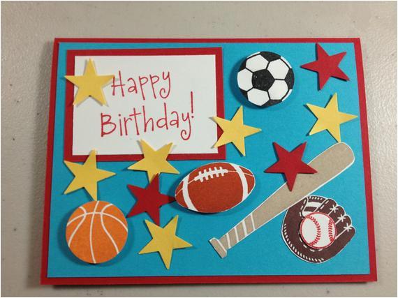 items similar to handmade sports themed birthday card on etsy