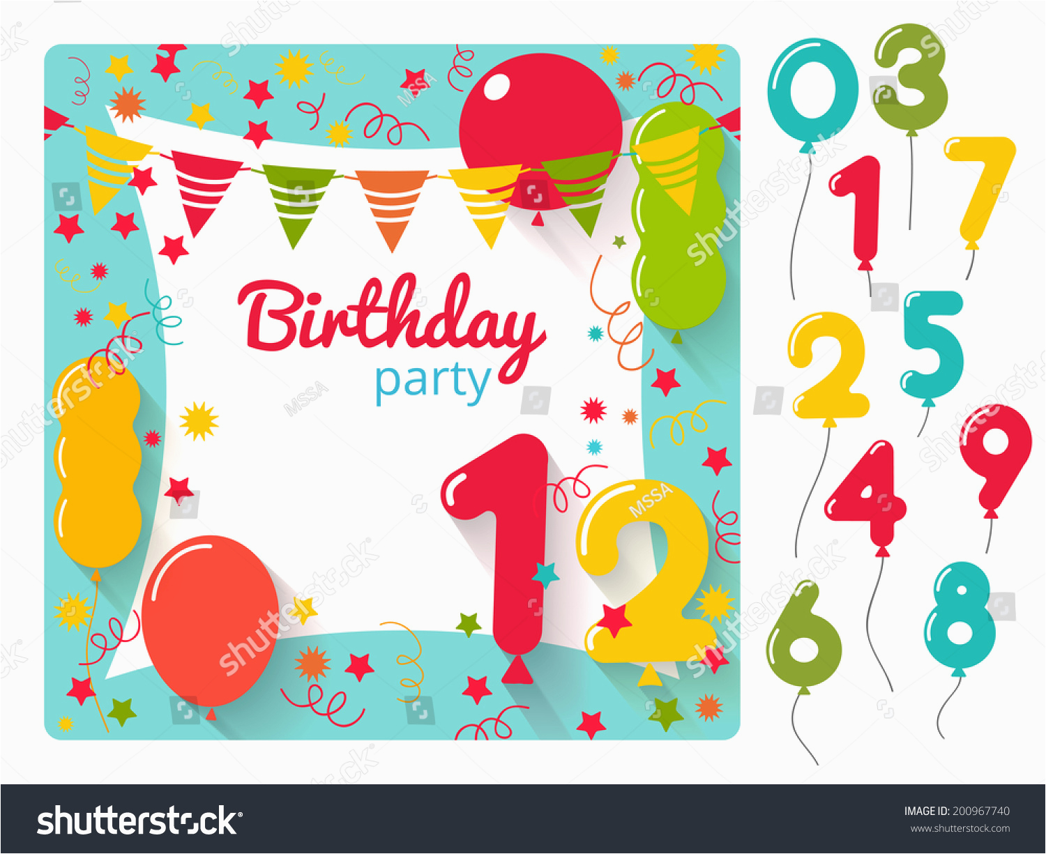 vector birthday party invitation card design 200967740