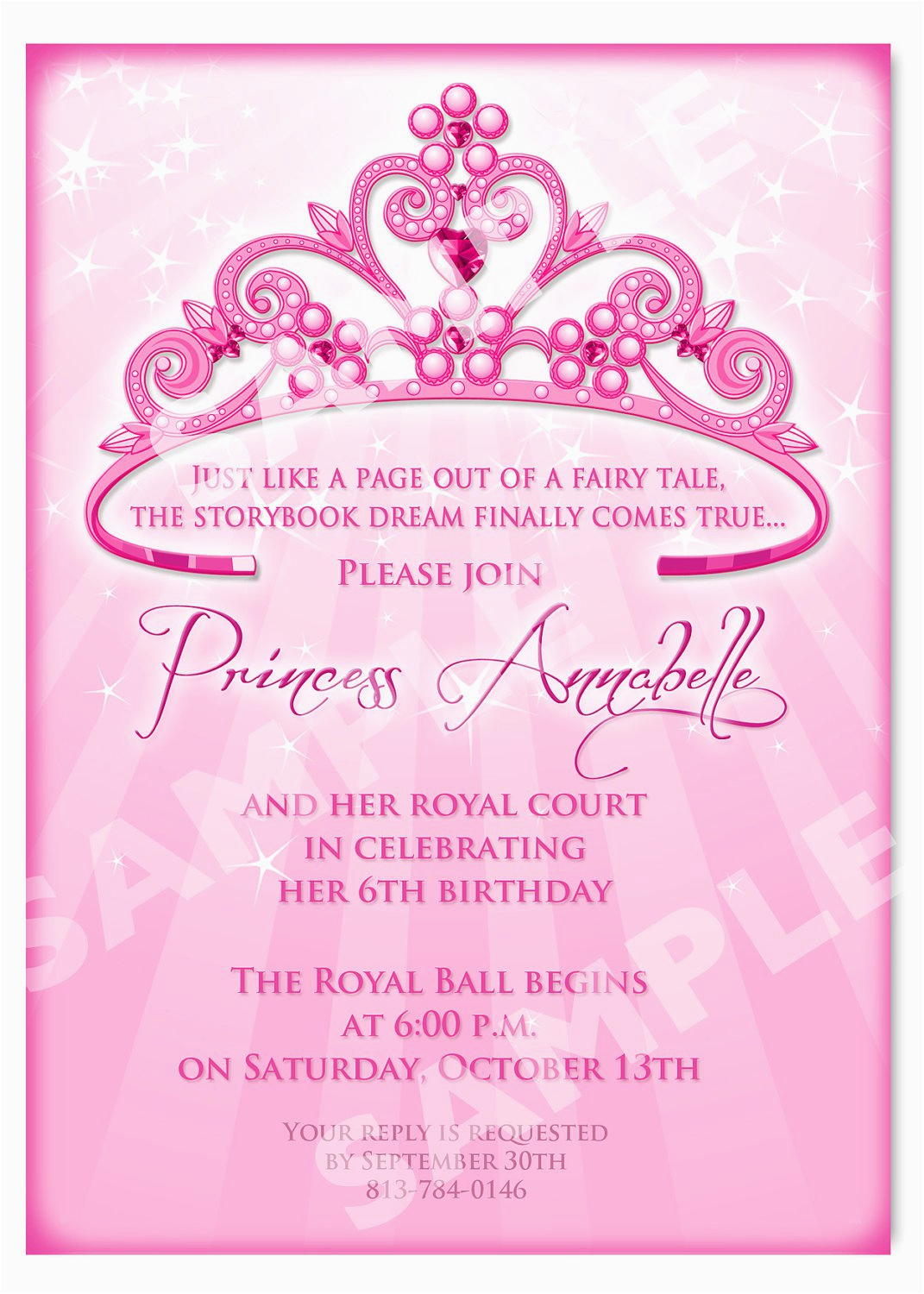 Evite Birthday Invites Princess Party Invitation Wording