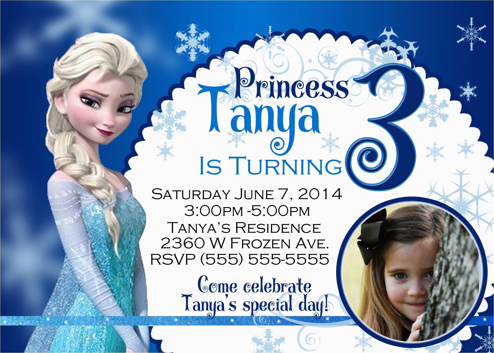 frozen 2013 birthday invitation
