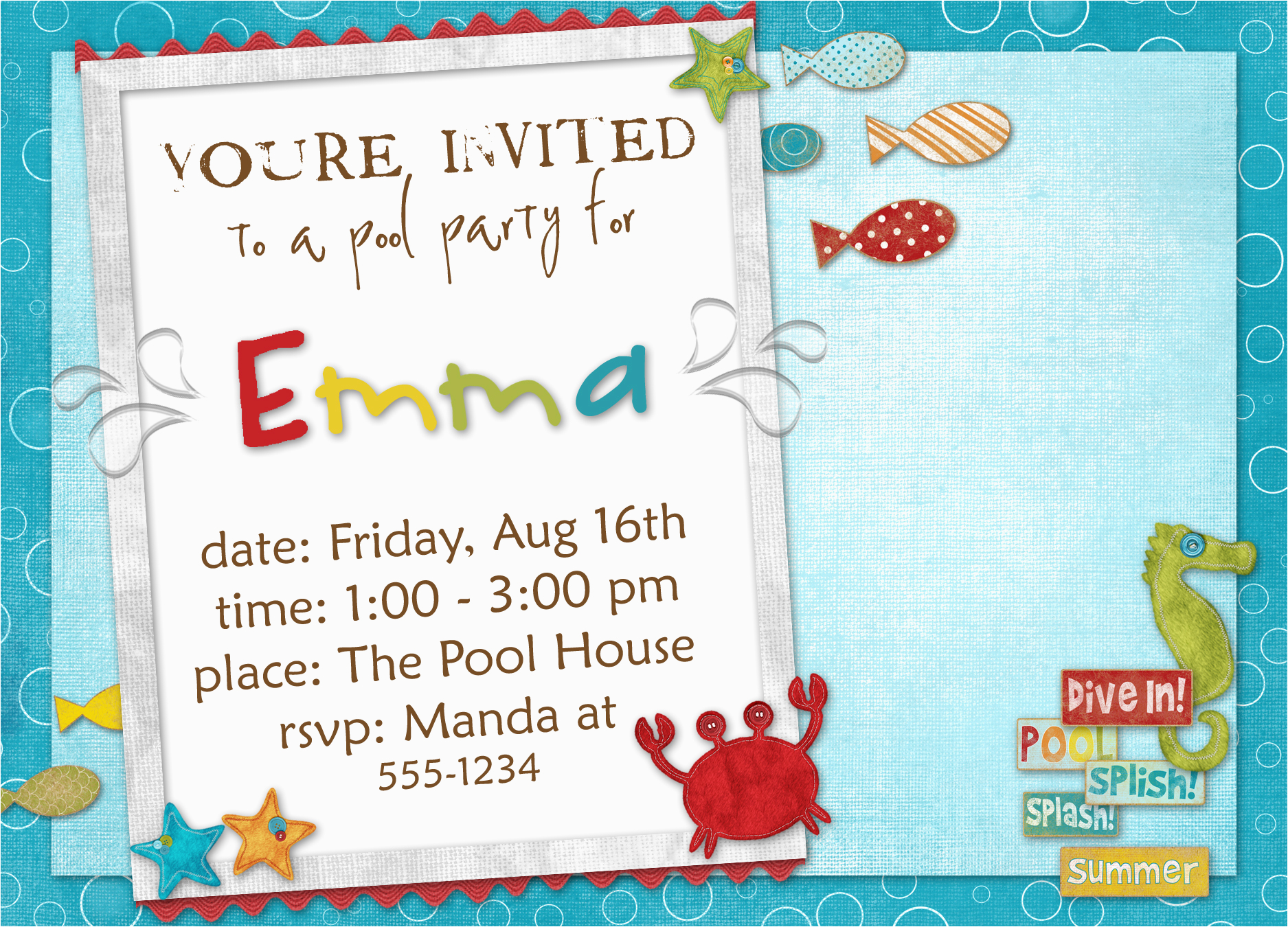 Example Of A Birthday Invitation Birthday Invitation Templates Bagvania Free Printable