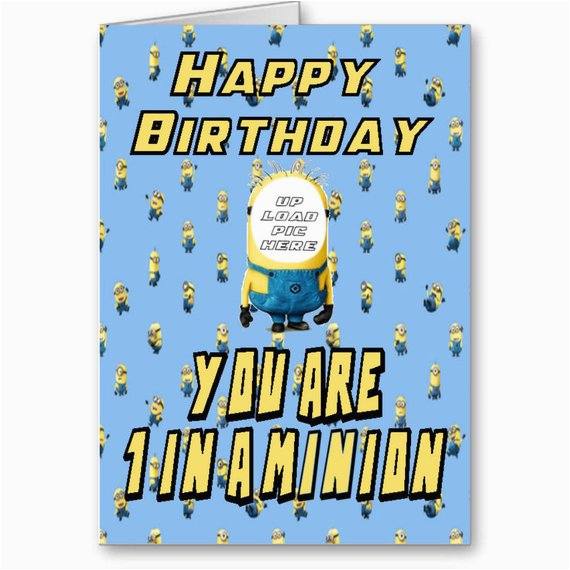 Face In Hole Birthday Card Minions Face In the Hole Happy Birthday Card