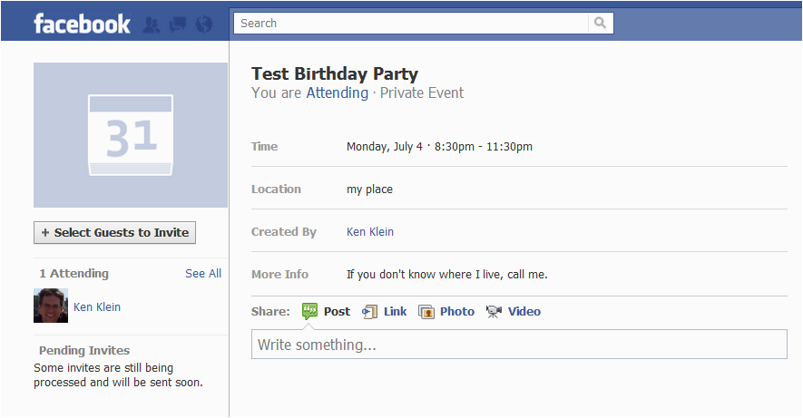 content how to safely post a facebook birthday party invite