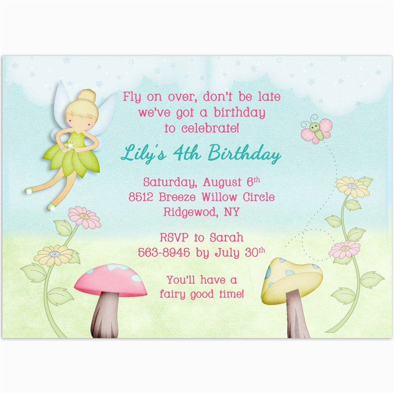 Fairy Birthday Invitation Wording Free Printable Tinkerbell Baby Shower