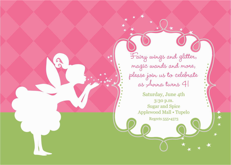 Fairy Birthday Invitation Wording Pixies and Fairy Wings Birthday Invitation Printable