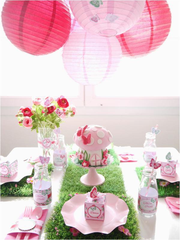 woodland pixie fairy themed birthday party