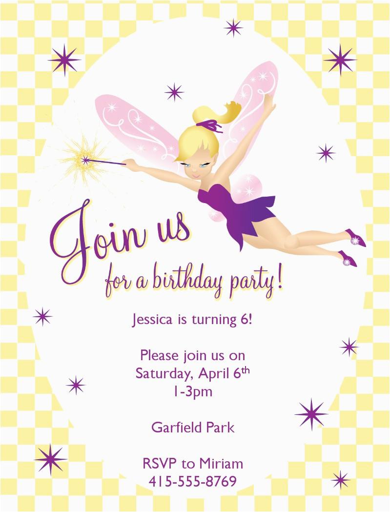 Fairy Birthday Invitation Templates Free