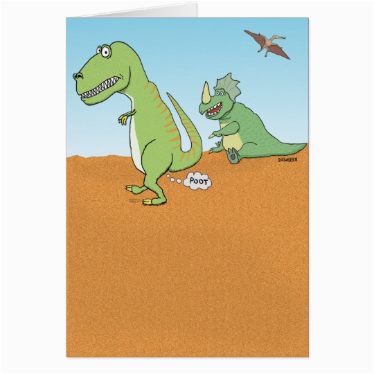funny dinosaur old fart birthday card zazzle com
