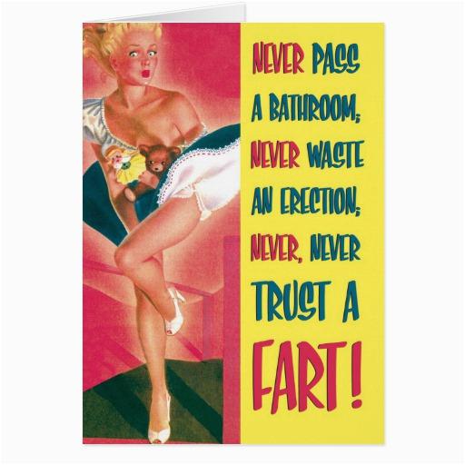 trust a fart funny birthday card zazzle