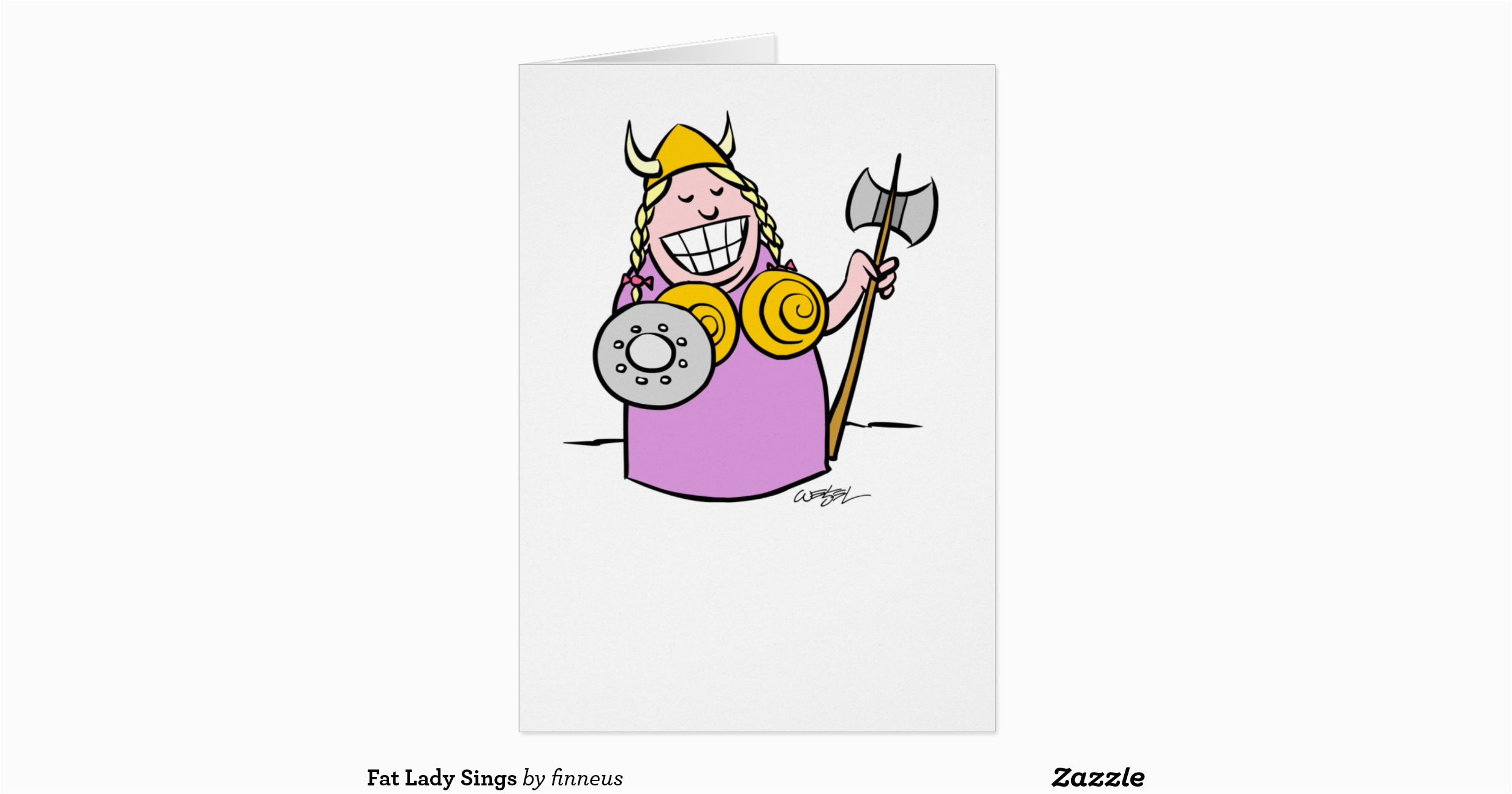 fat lady sings greeting card