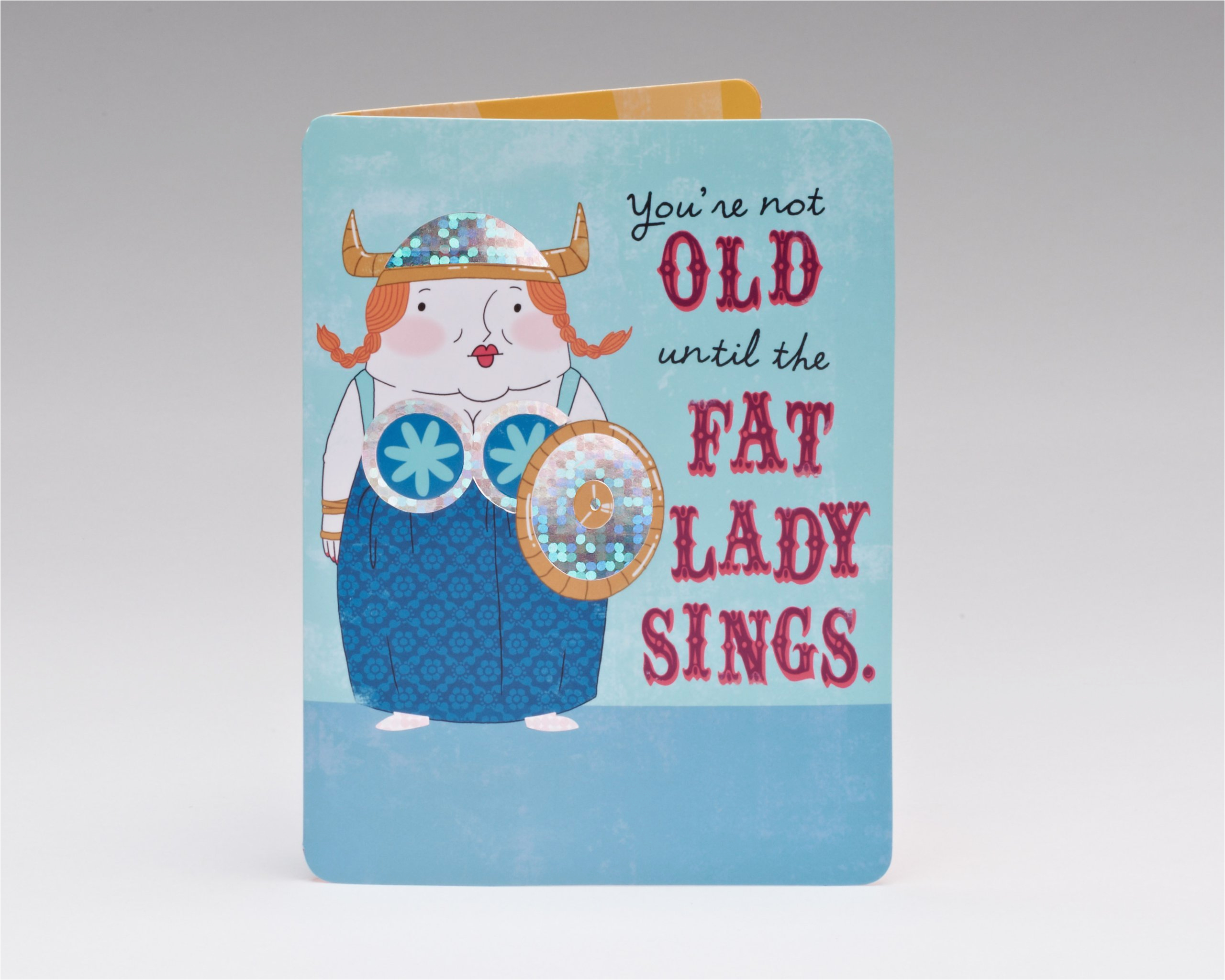 funny fat lady sings birthday card