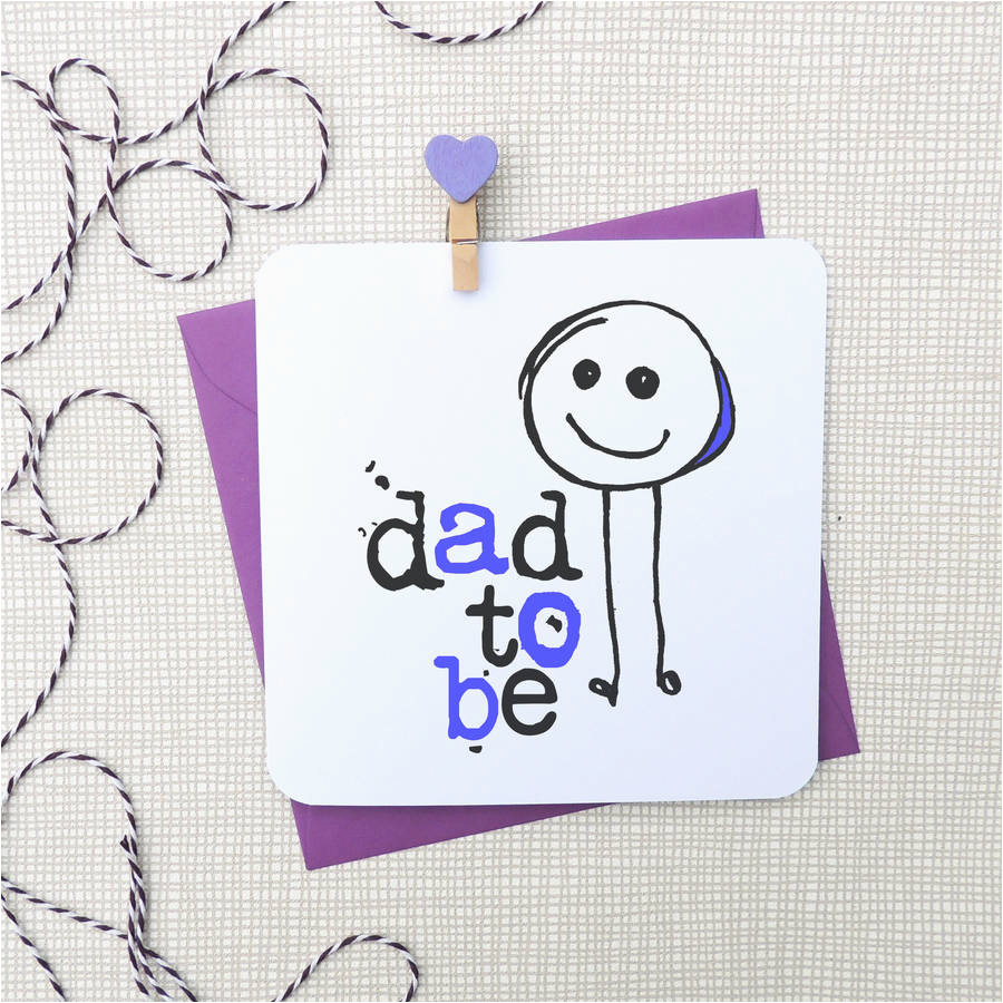 39 dad to be 39 new baby greeting card by parsy card co
