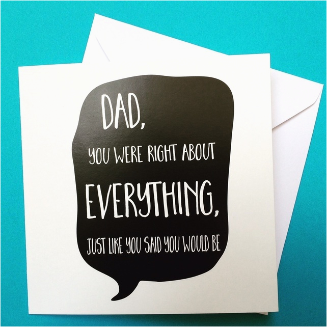 dad birthday card dad 39 s always right birthday folksy