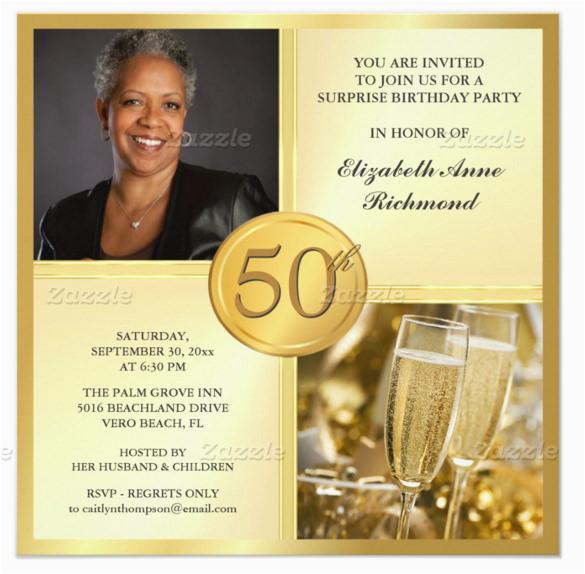 Female 50th Birthday Invitations 45 Invitation Templates Free Sample