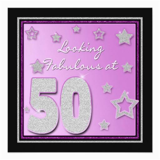 50th birthday invitation female stars 161905515594429126
