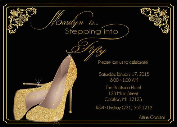 Female 50th Birthday Invitations Adult Party Invitation Wording Dolanpedia