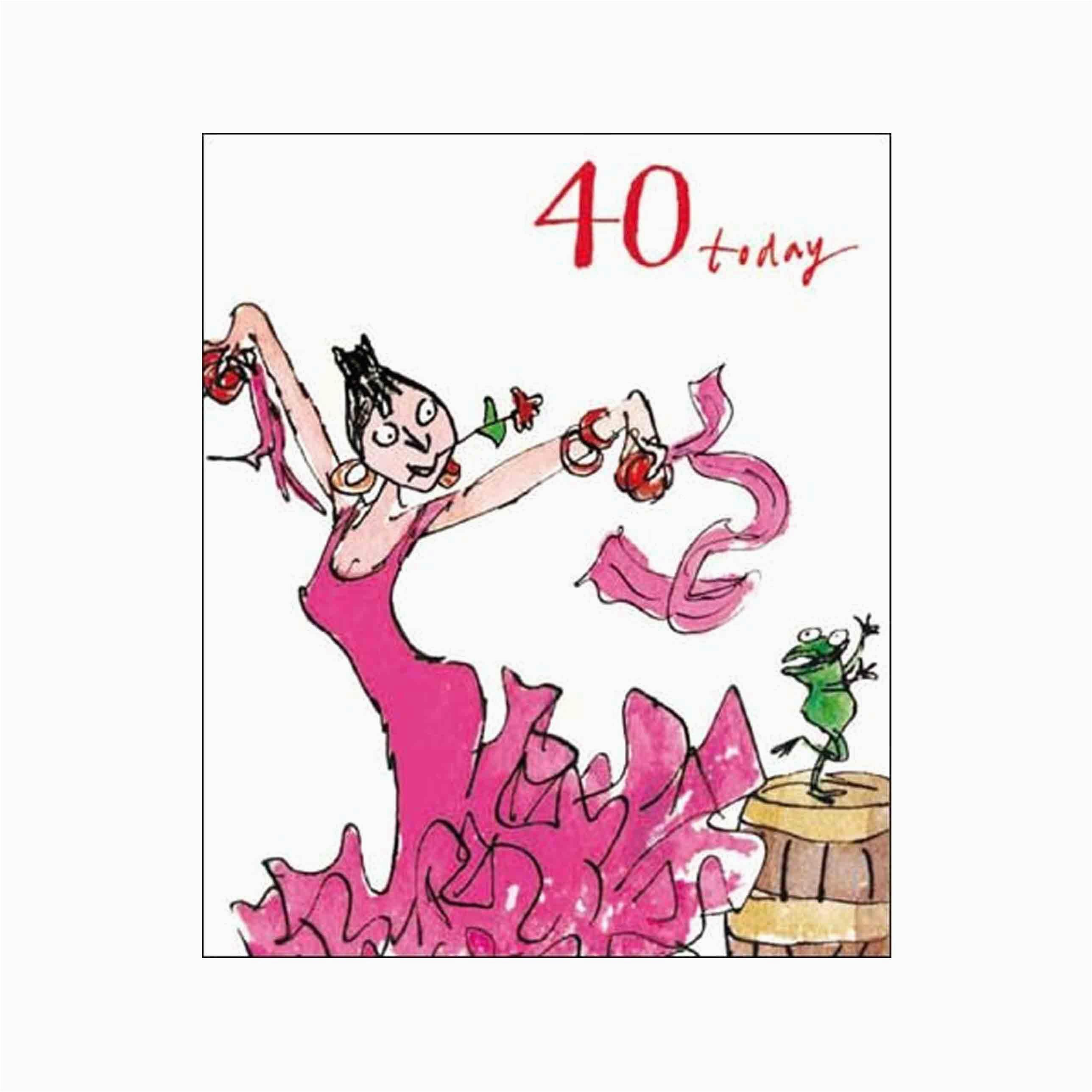 female birthday card quentin blake age 40