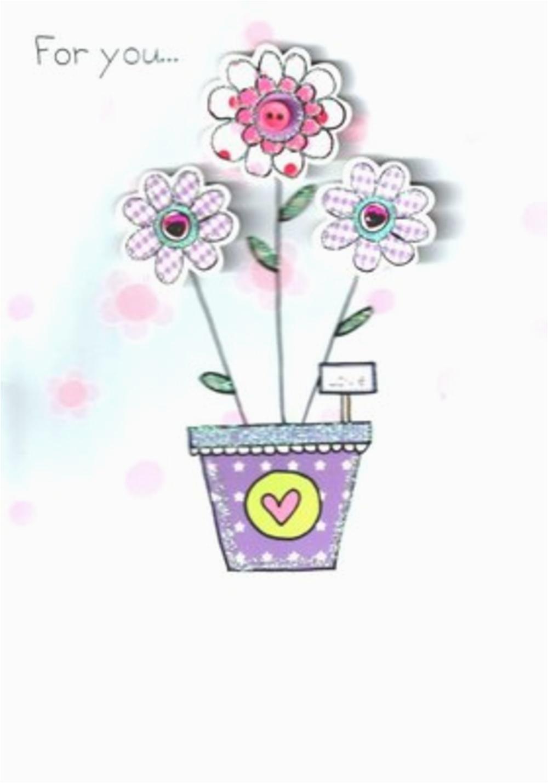 kcsnbd004 luxury 3d flowers female birthday card