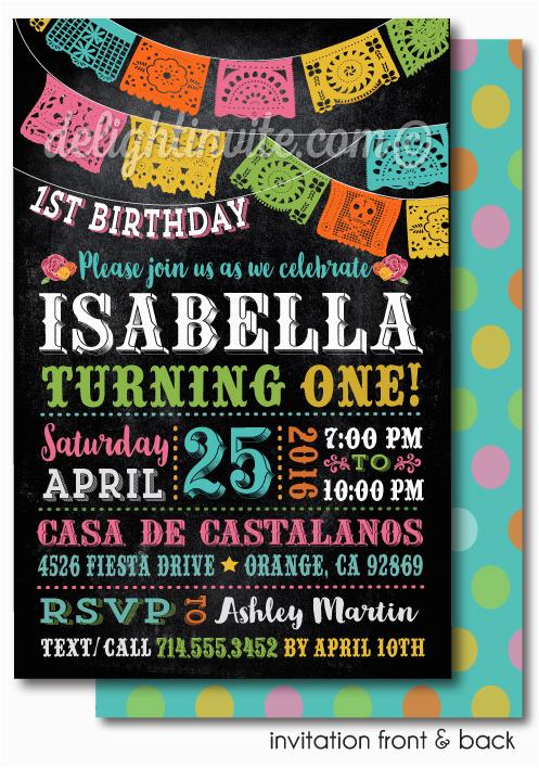printable digital fiesta paper flags birthday invitations p 4417