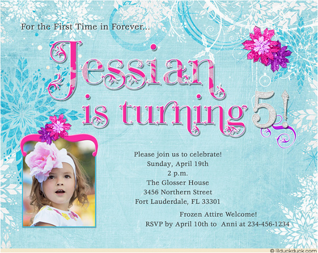 5th birthday party invitation wording