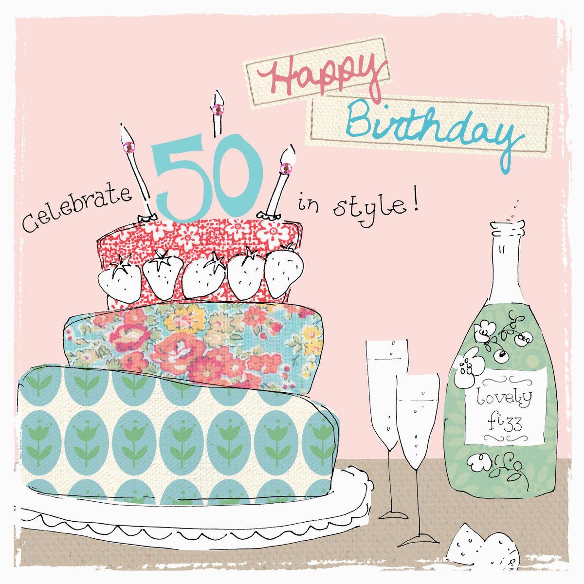 Fiftieth Birthday Cards 50th Birthday Cards For Her Uk BirthdayBuzz