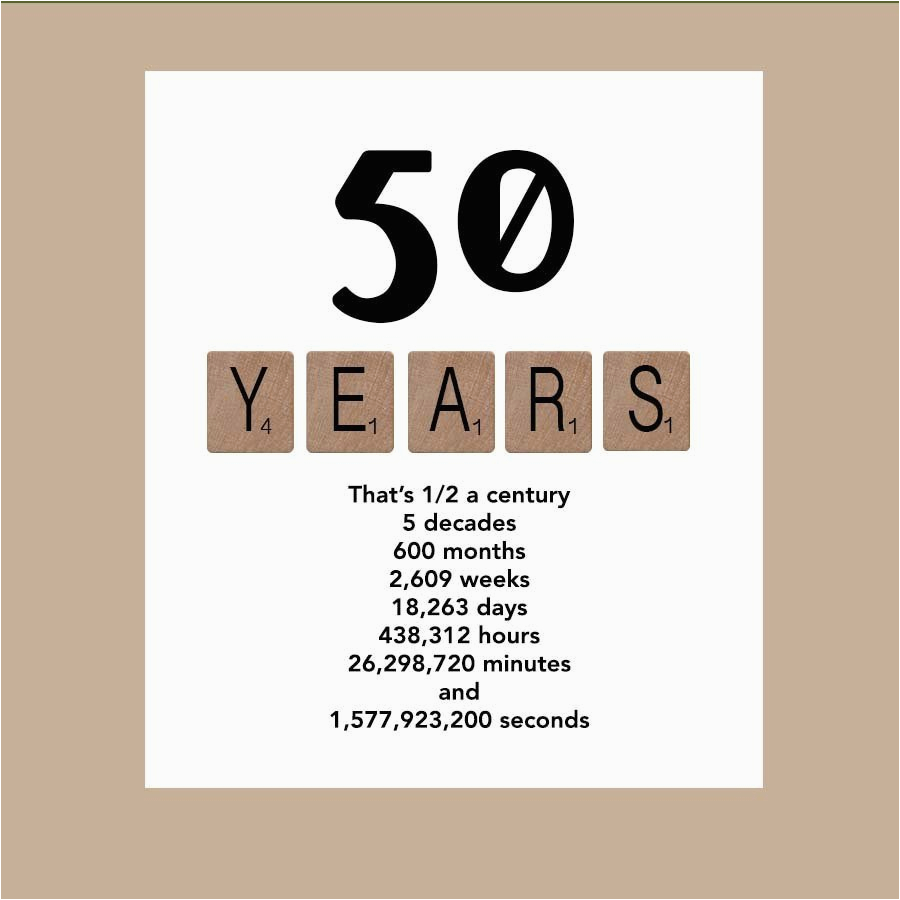 Fifty Birthday Cards 50th Card Milestone By Daizybluedesigns
