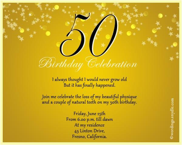 Fifty Birthday Invitation Wording 60th Invite A Cake