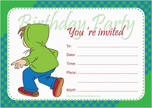fill in birthday invitations