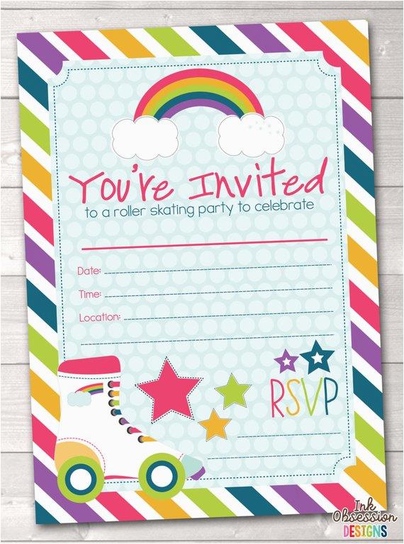 fill in roller skating party invitations