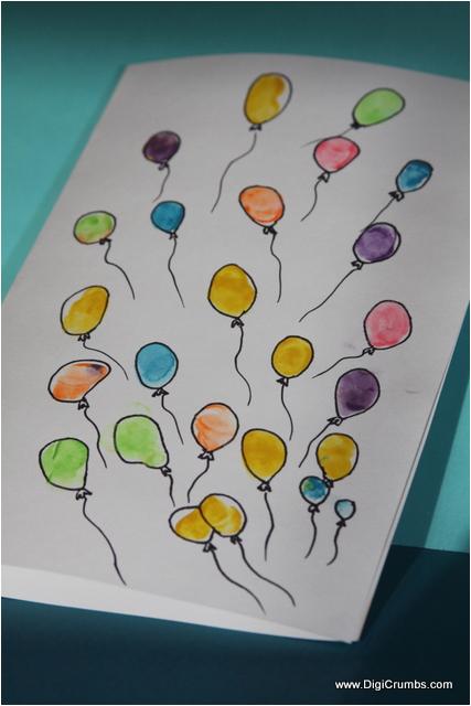 bunch of balloons happy birthday card
