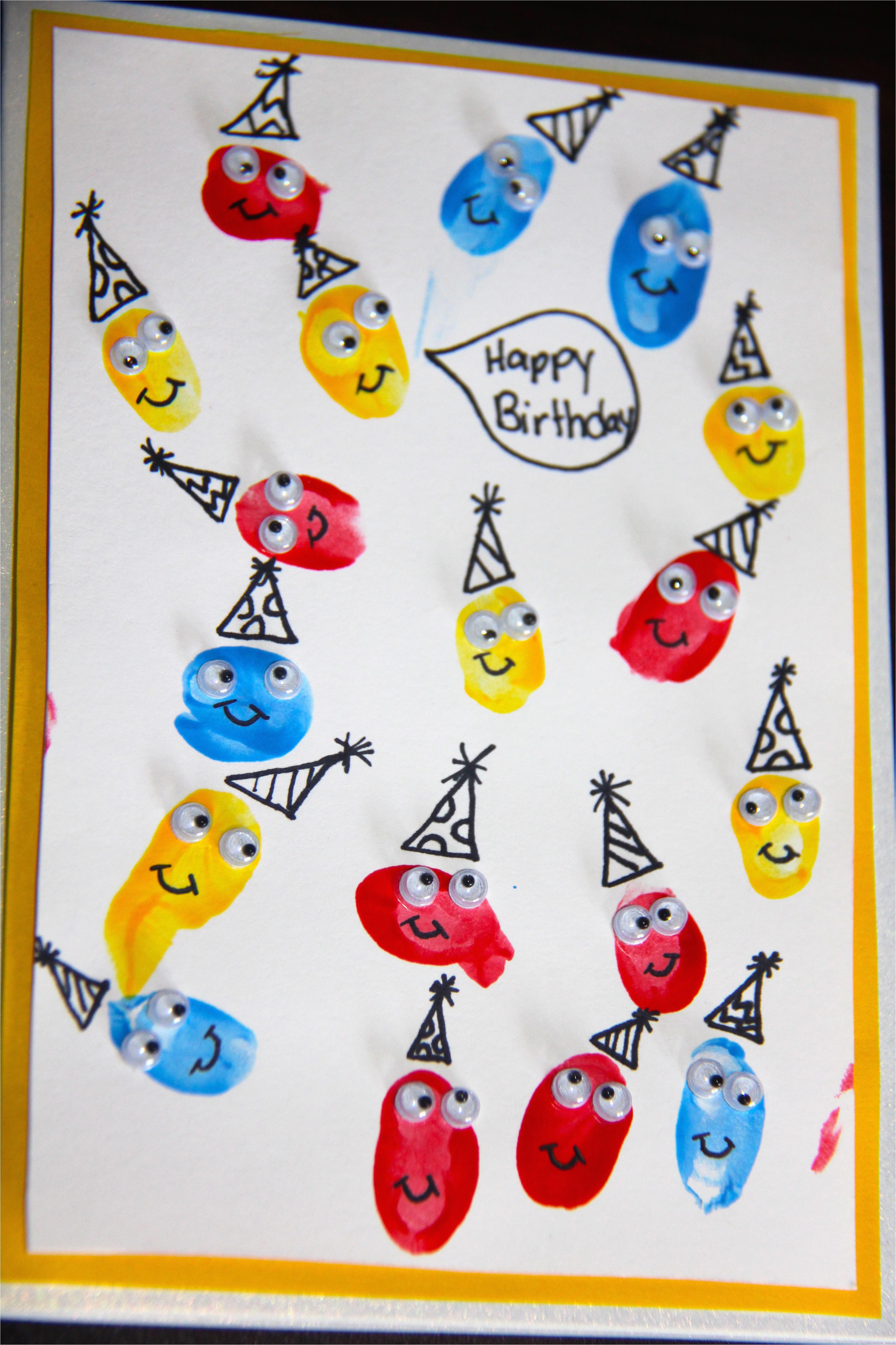 fingerprint birthday cards