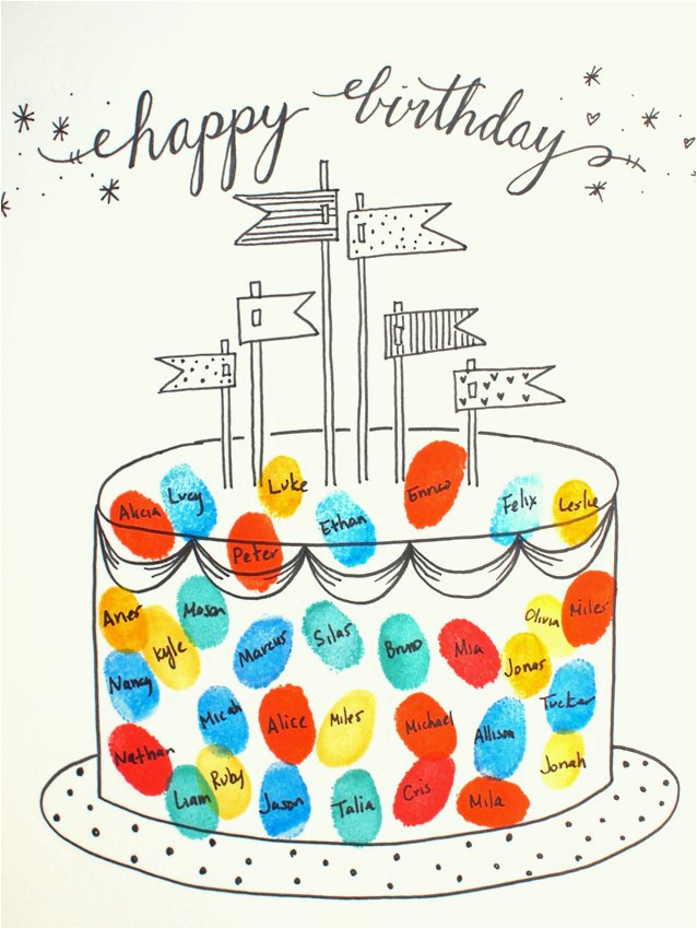 free printable fingerprint birthday cards