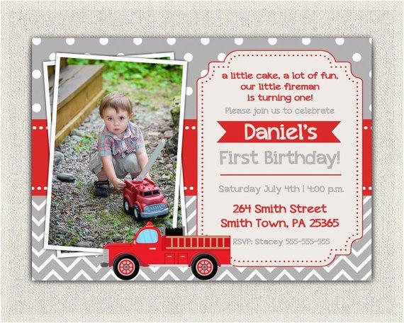 boys firefighter fireman fire truck birthday 2