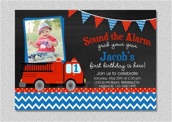 fire truck birthday invitation firetruck birthday 3