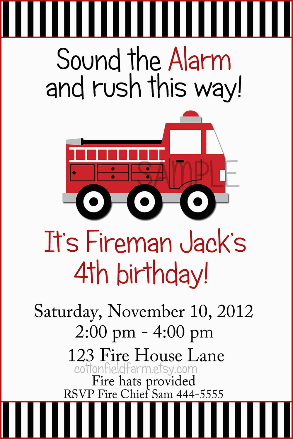 little red fire truck birthday party