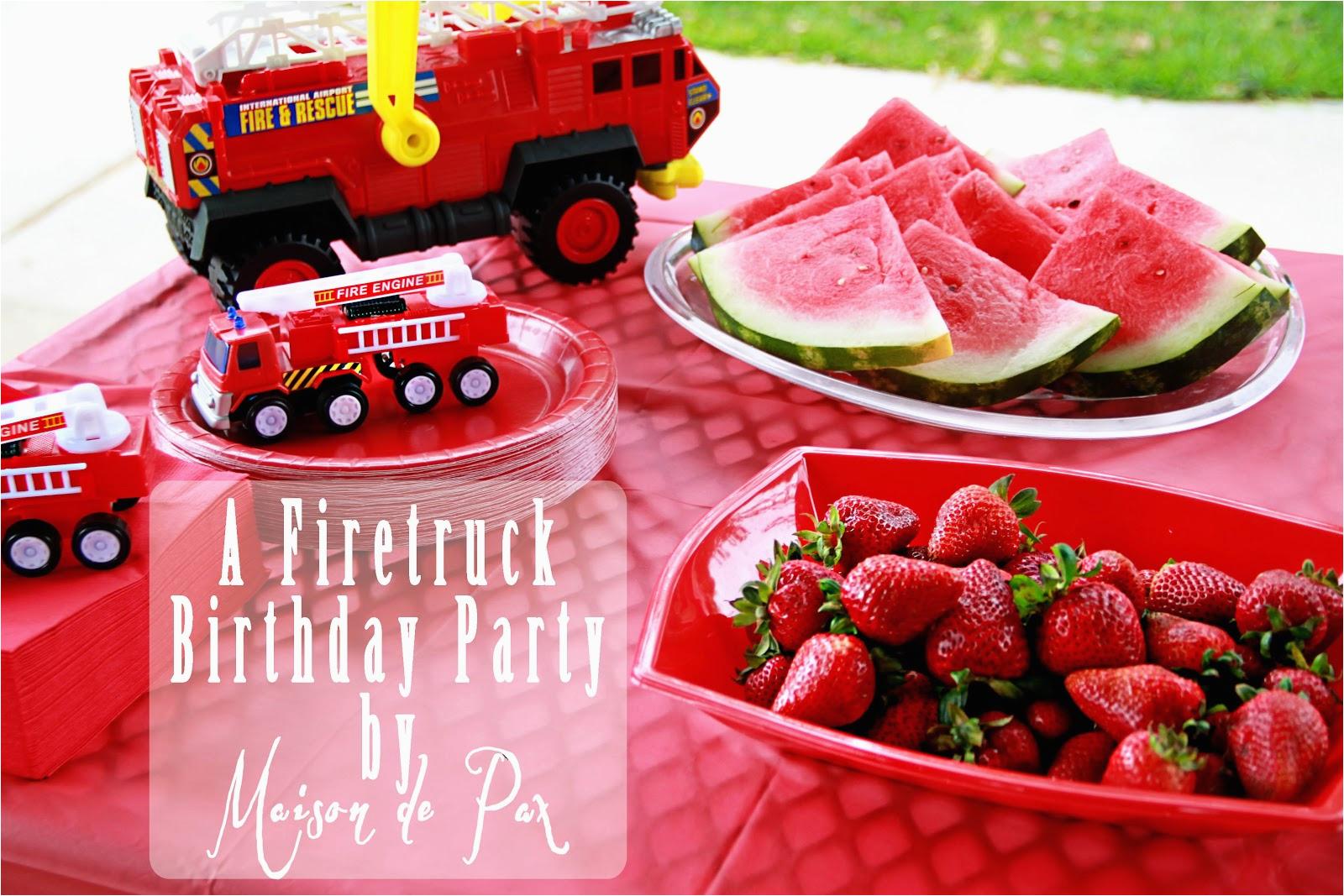 Fire Truck Birthday Decorations A Smokin 39 Hot Fire Truck Birthday Party Maison De Pax