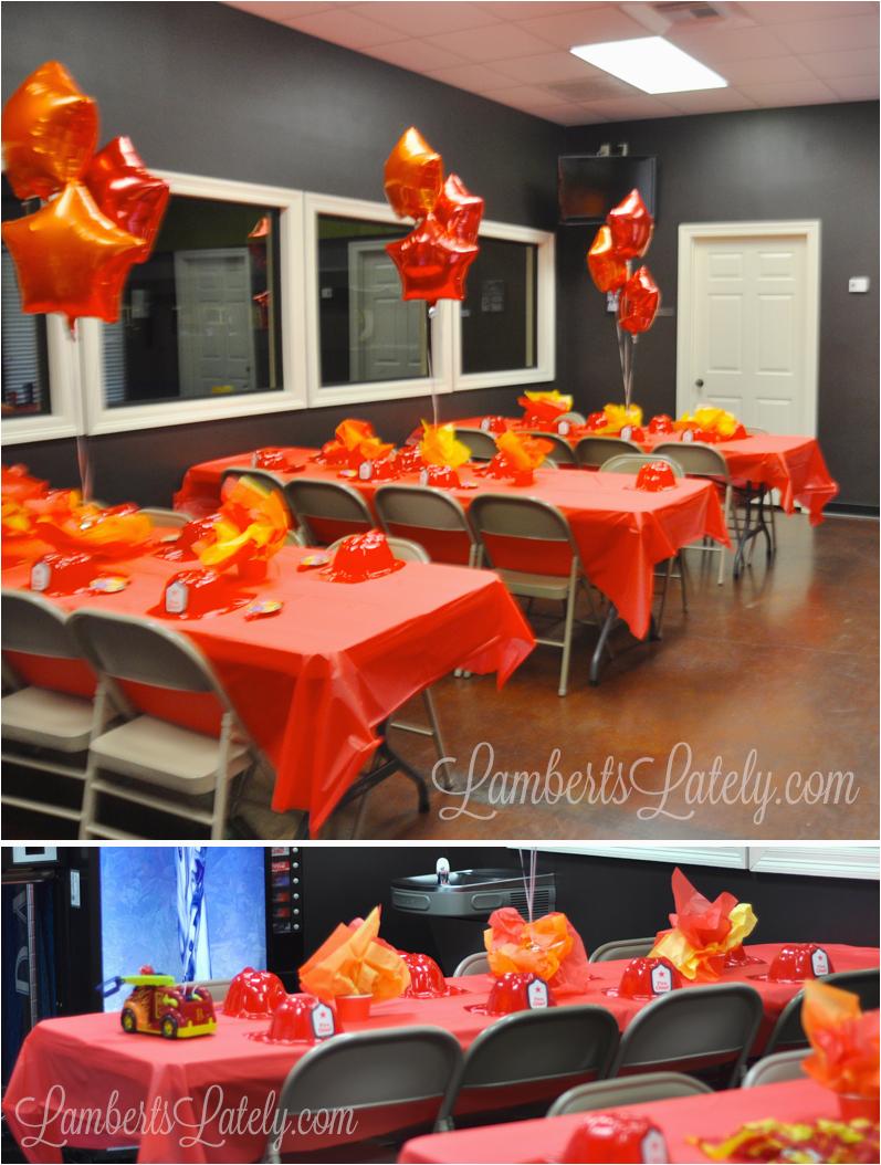 firetruck fireman birthday party
