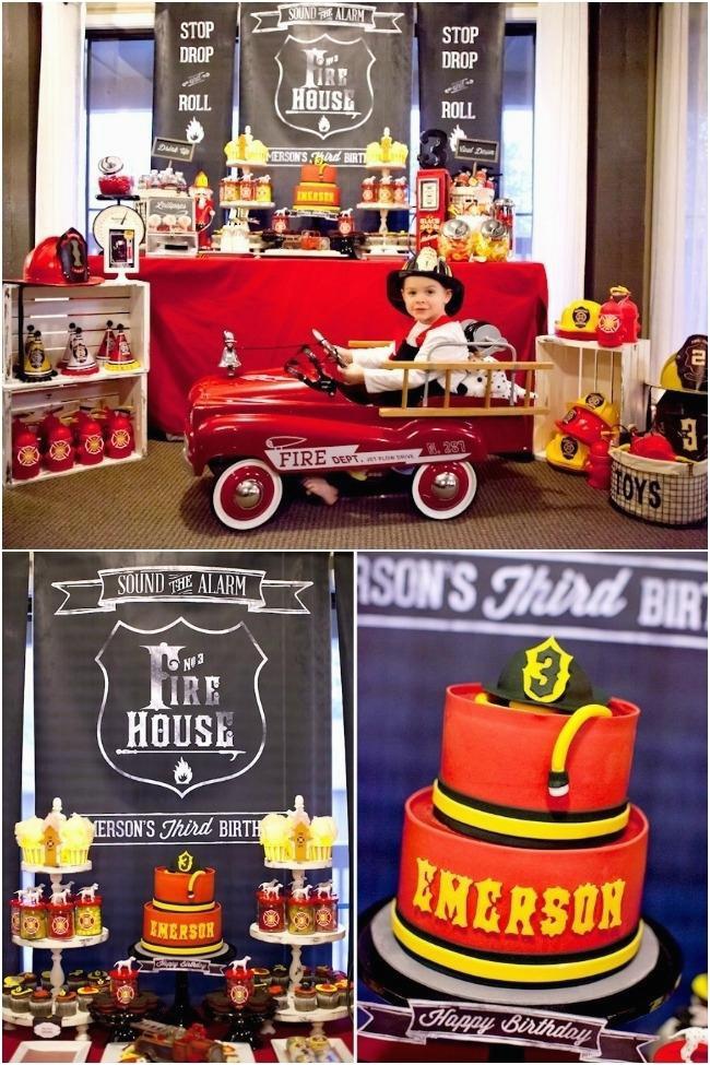 16 fireman birthday party cake treat ideas