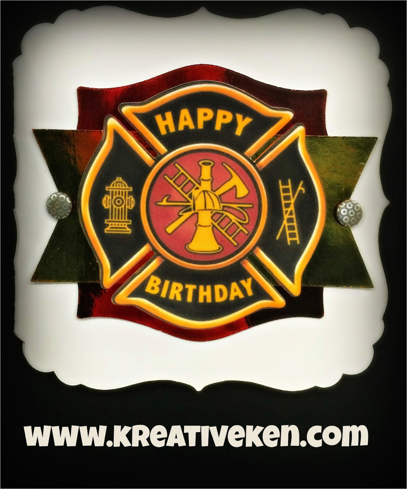 firefighter birthday card