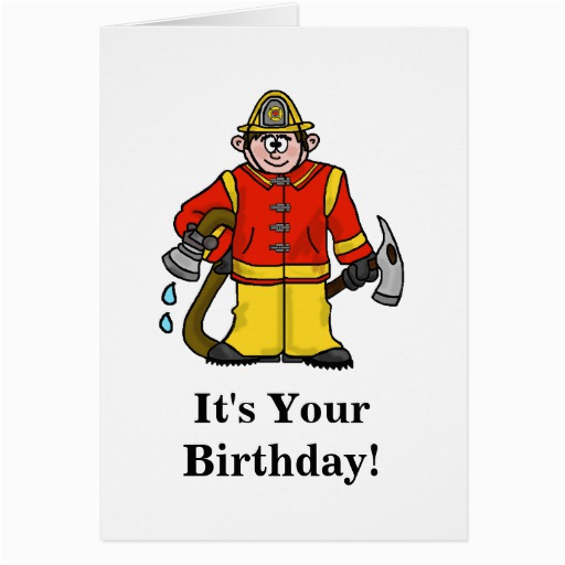 collectionfdwn fireman birthday cards